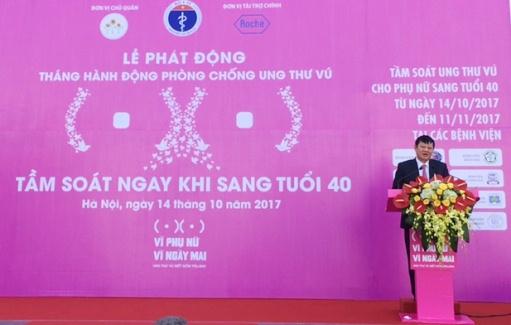 Bộ Y tế phát động chiến dịch Tầm soát ung thư vú ngay khi sang tuổi 40 tại Hà Nội